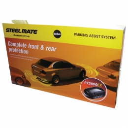 Steelmate PTS800EX Fully fitted front and rear parking sensors audio only ESSEX