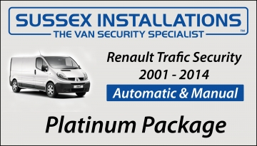 Sussex Installations REN1-PP-1S-RB-D Renault Trafic 2001 - 2014 Platinum Package Renault Trafic 2001  2014 Van Platinum Security Package Sussex - London & The South East