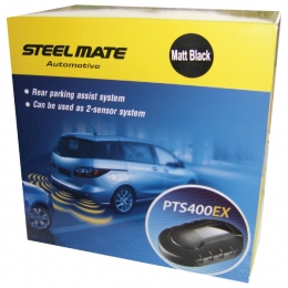 Steelmate PTS400EX-M8 Fully fitted rear parking sensors with display carphone services