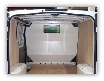 Van Guard Window Bulkhead- Full or half height metal window bulkhead. Bristol- Gloucester - Somerset