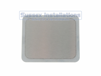 Sussex Installations REPAIR-SHIELD-2-RECTANGLE Stainless steel repair shield  rectangle 100mm x 80mm  4 stud Rye