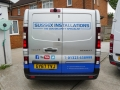Sussex Installations REN5-V2.0-EXTERNAL-INTERNAL TRAFIC VISIBLE BARN DOOR LATCH SHIELD (8 STUD) Renault Trafic 2014 onwards rear barn door external and internal latch shield set  NEWnbspV20 8 x STUD VERSION Sussex - London & The South East