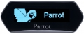 Parrot MKi9100 A full system dedicated to conversation and music in car with a blue OLED Screen carphone services