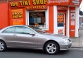 Llumar Mercedes clk Mercedes clk fitted with climate control film DURHAM