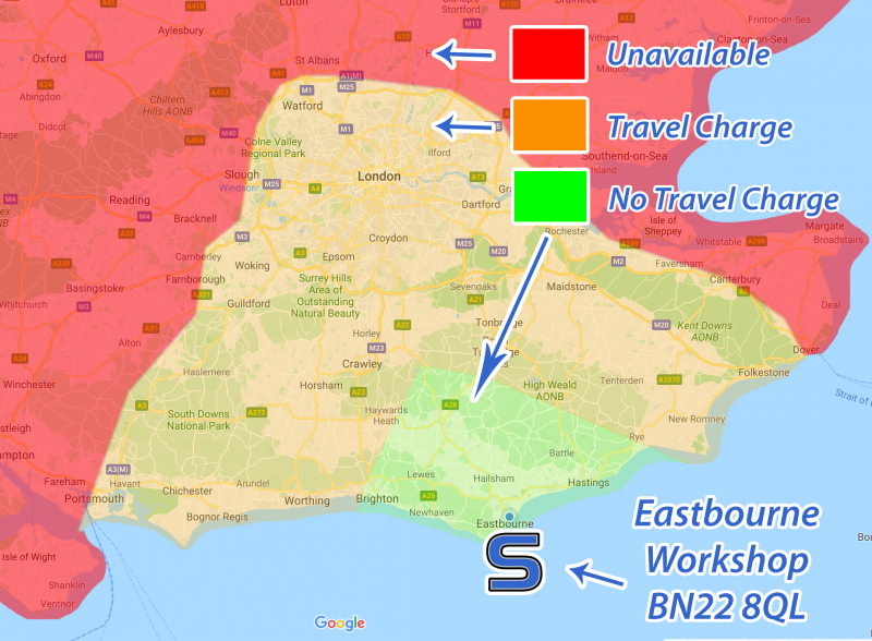 Sussex Installations TRAVEL-SE-INC-LONDON TRAVEL CHARGE SOUTH EAST INC LONDON Travel Charge for a Mobile Service in the South East of England including London London